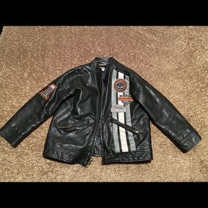 HD Boy faux leather coat